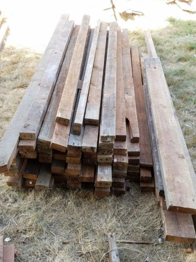 10 Wood for reuse