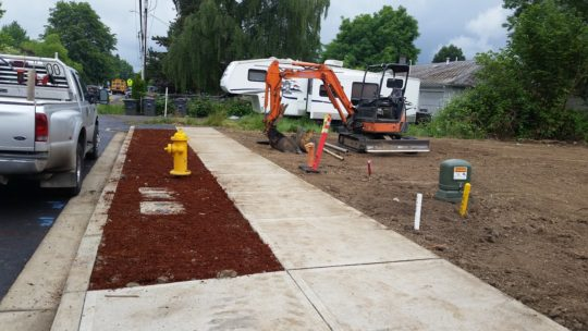 10. Sidewalk finished