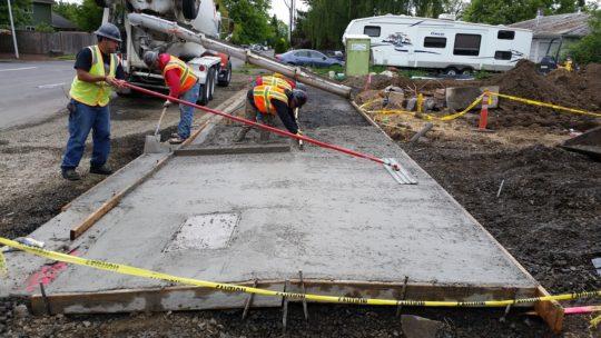 11. Sidewalk under construction