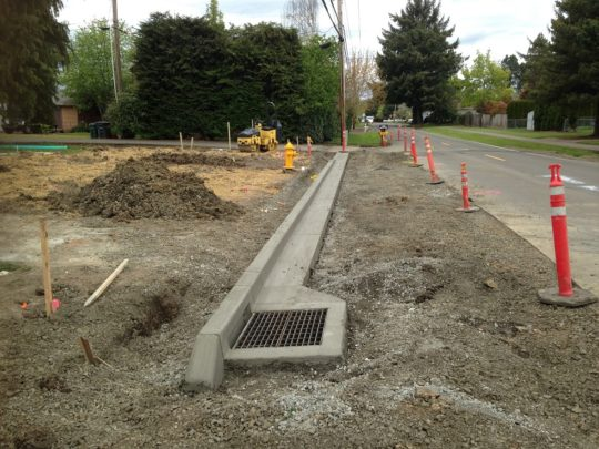 12. Curb poured