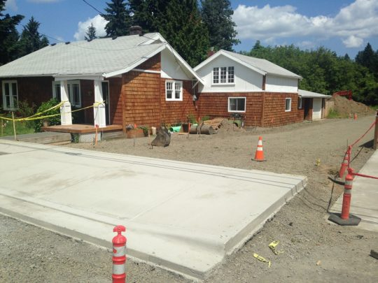 13 Driveway and sidewalk poured