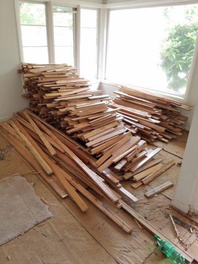 13 Hardwood floor recyling