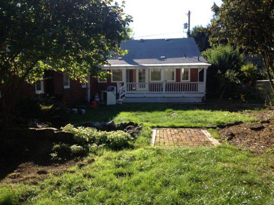 25 House Rear yard before