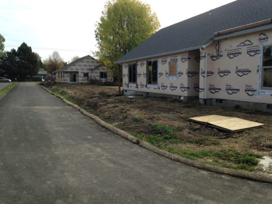 4. Homes being constructed