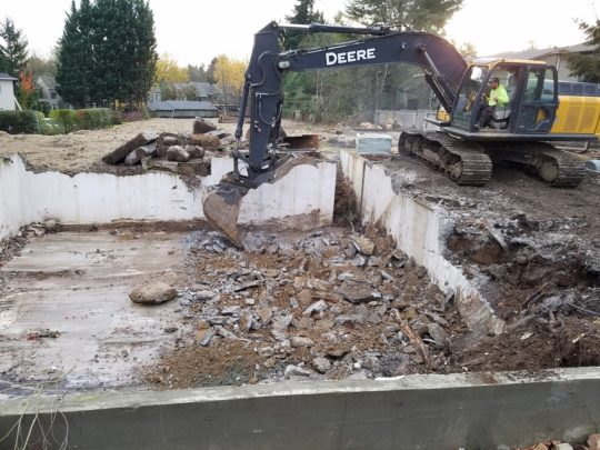 6 Basement demo, left in situ,saves energy hauling away