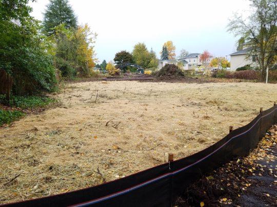7 Site prep'd, erosion control, straw blanket
